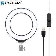 Puluz 4.7 インチusbホワイトライトled撮影selfieマクロリングライトビデオカメラvlogging補助光blogger