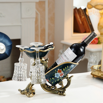 European Creative Red Wine RackDecoration Gifts for Household Luxury Multifunctional Wine Rack Living Room Cabinet