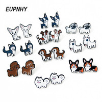 eupnhy-2pcsset-lovely-beagle-hound-bull-terrier-dog-stud-earring-for-women-girls-fashion-cartoon-animal-earrings-jewelry