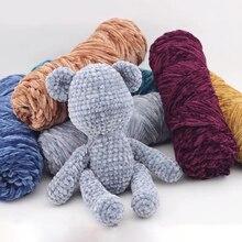 100g/ball Chunky Chenille Yarn Wool Thread DIY Soft 100% Polyester Winter Warmth Hand Knitting Crochet Velvet Yarn