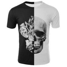 2021 New Summer Men's Horror Skull T-shirt Animal Skull 3DT Shirt Male Hip-hop 3D Printing Interesting Skull O-neck T-shirt