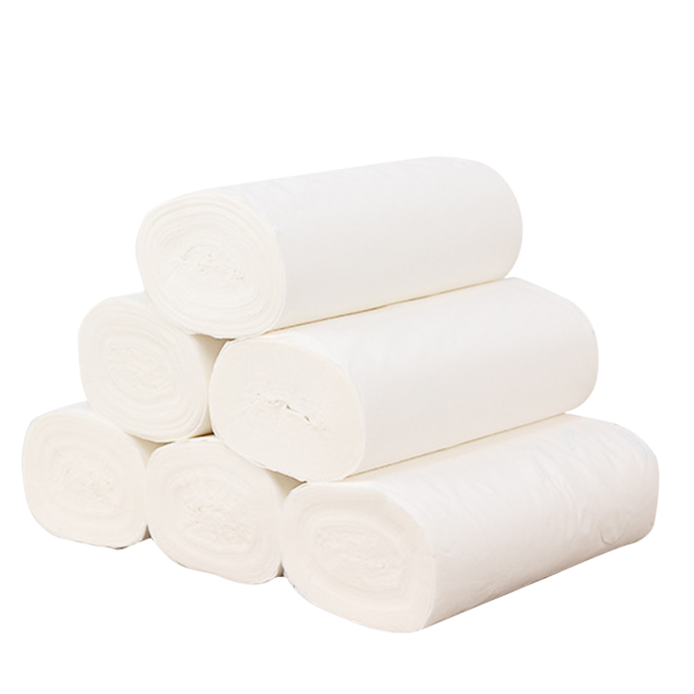 12rolls Daily Household Bath Tissue Portable Water Absorption Skin Friendly Toilet Paper Kitchen Thickened 4 Ply Hotel Wood Pulp