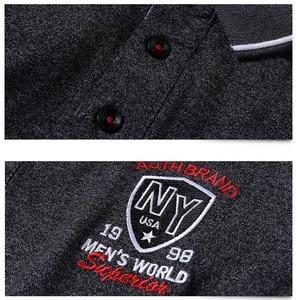 Image 4 - Paars Mannen Polo Shirt Top Kantoor Mannen Camisa Masculina Katoen Badge Polo Shirt Plus Size 5XL Zomer Casual Tee shirts