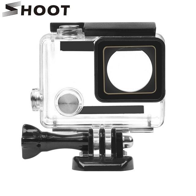 לירות 30M מקרה עמיד למים עבור GoPro Hero 4 3 + שחור כסף פעולה מצלמה עם סוגר מגן דיור עבור ללכת פרו 4 אבזר