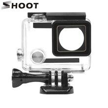 SHOOT suporte de proteção de câmera Go Pro 4, acessório de suporte de capa impermeável de 30m para câmera de ação GoPro Hero 4 3+, protetor preto e preta