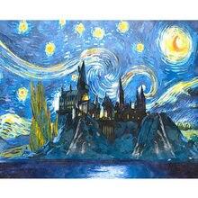 Amtmbs замок под звездным небом diy живопись по номерам ручная