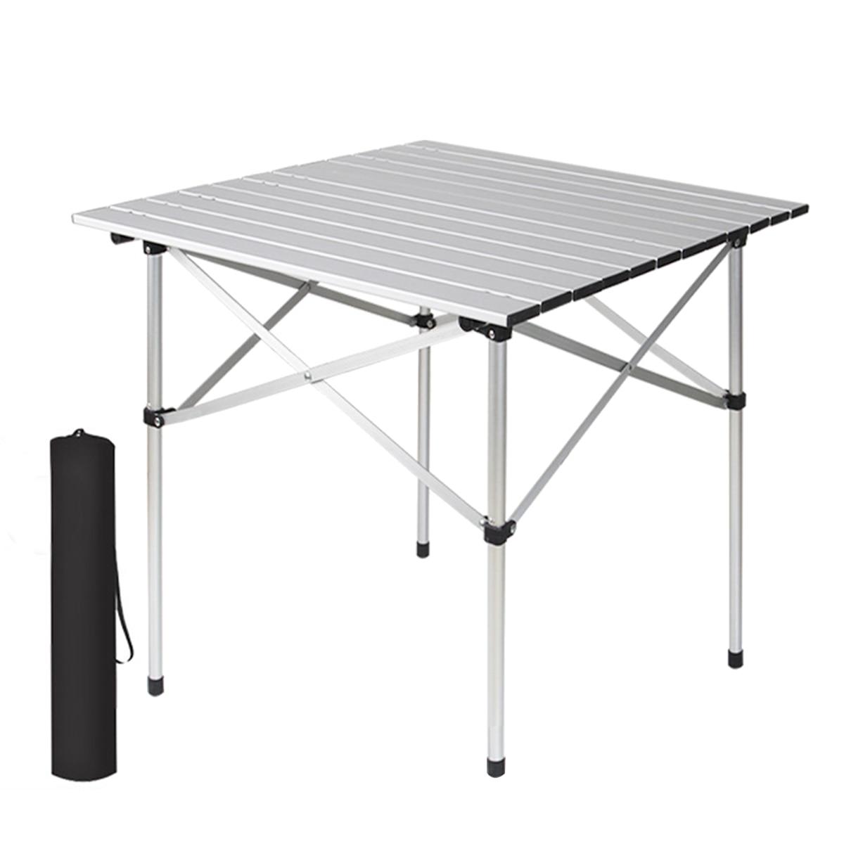 Стол портативный из алюминиевого сплава, складной, 70 Х70 см, для отдыха на открытом воздухе, походов, путешествий, пикника