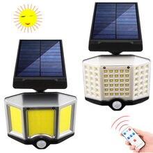 На солнечных батареях cob настенный светильник с дистанционным