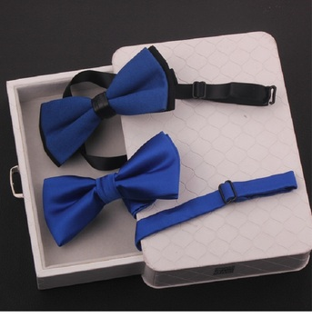 2020 New Fashion Designer Men's Bow Ties Wedding Double Fabric Royal Blue Bow Tie Gorgeous Banquet Butterfly Tie with Gift Box