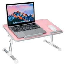 53x30CM Upgrade biurko taca PC stół stojak aluminiowy Notebook stół stojak na biurko regulowane biurko na laptopa składane z podkładką pod mysz tanie tanio CN (pochodzenie) F98687 Density Board Aluminum Alloy Laptop biurko 53cmx30cm