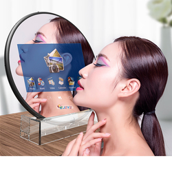 Digital Photo Frame Round Magic Mirror Cosmetic 7inch Screen LED HD Electronic Album Picture Music Movie Full Function Good Gift