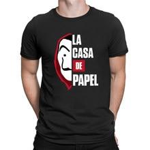 Casa di Carta T Shirt Gli Uomini Divertente Design La Casa De Papel Magliette E Camicette Soldi Rapina Magliette Serie Tv T-Shirt Corta cotone a manica Casual Tee