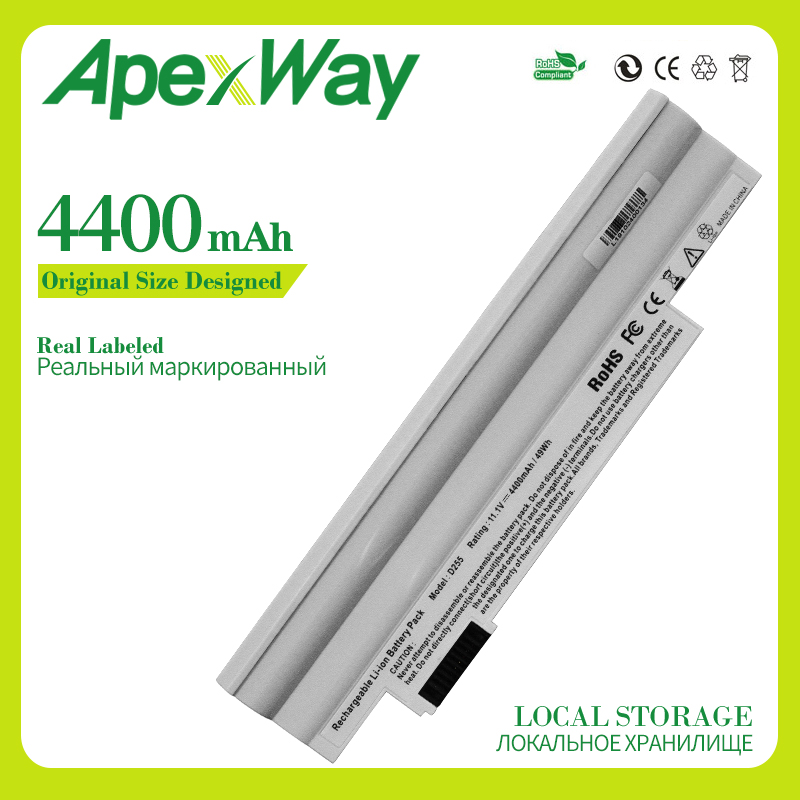 Apexway White Laptop <font><b>Battery</b></font> For <font><b>Acer</b></font> <font><b>Aspire</b></font> <font><b>one</b></font> D255 D257 D260 D270 522 <font><b>722</b></font> AL10A31 AL10B31 AO522 AOD255 AOD257 AOD260 AC700 image