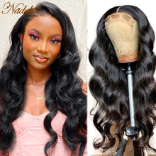 Парики Nadula 4X4 на сетке, волнистые передние парики из человеческих волос, малазийские волосы без повреждений, предварительно выщипанные Детс...