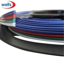 Cable alargador de 5m/10M, 2 pines, 3 pines, 4 pines, 5 pines, 22 awg, RGB + Cable de alambre blanco para tira LED 3528 5050
