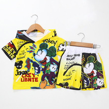 baby boy clothes cotton sports suit cartoon Mickey print children's clothing Set Kid's casual clothes baby Boy Outside Wear майка print bar baby it s cold outside