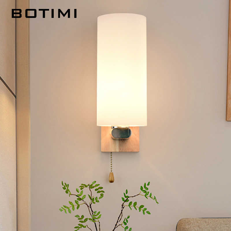 Botimi Wooden Led Wall Lamp For Living