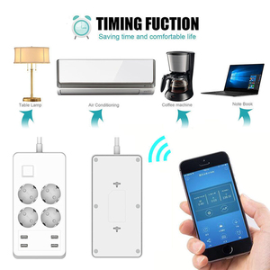 Image 4 - Wifi смарт Мощность полосы Стабилизатор напряжения удлинитель 4 розетки ЕС розетки с USB Зарядное устройство адаптер работает с Alexa Google Home
