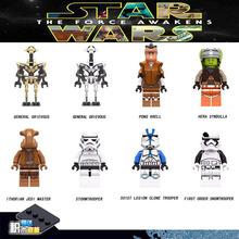 STAR WARS Luke Leia Starwars Darth Vader Maul Sith Malgus Han Solo Jawas Ewok Yoda Rey Building Blocks Toys for Children darth nihilus with red lightsaber xinh 207 starwars darth vader star wars building block best toys for children