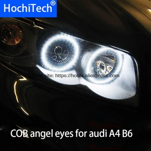 Image 1 - For audi A4 B6 2000   2006 COB Led day Light White Halo Cob Led Angel Eyes Ring Error Free Ultra bright