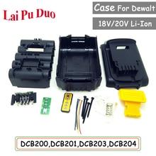 Alet takımı Dewalt 18V 20V pil değiştirme plastik kasa 3.0Ah 4.0Ah DCB201,DCB203,DCB204,DCB200 Li ion pil kapağı parçaları