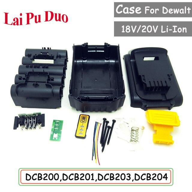 כלים סט עבור Dewalt 18V 20V סוללה החלפת פלסטיק מקרה 3.0Ah 4.0Ah DCB201,DCB203,DCB204,DCB200 ליתיום סוללה כיסוי חלקי