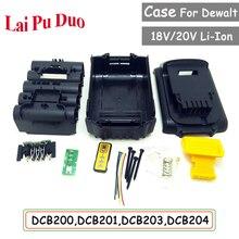 Ensemble doutils pour Dewalt 18V 20V batterie remplacement boîtier en plastique 3.0Ah 4.0Ah DCB201,DCB203,DCB204,DCB200 Li ion pièces de couverture de batterie