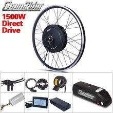 Livraison gratuite 1500W e bike kit de Conversion de vélo électrique Driect moteur dentraînement MXUS 48V 52V 13AH 17AH Hailong batterie LCD