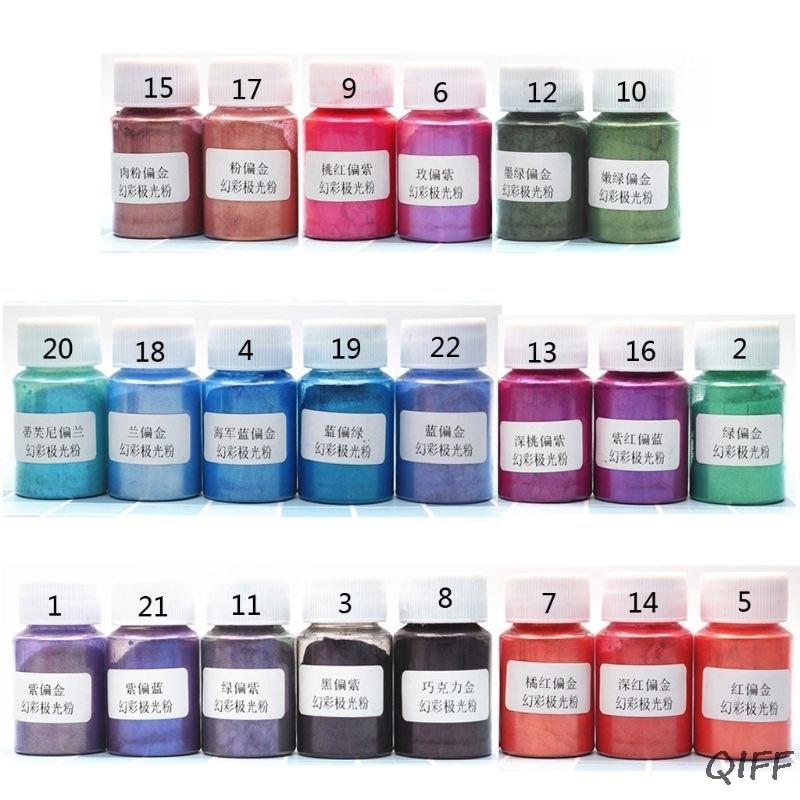 Aurora Pearl Pigment Powder Mica Pearlescent Colorants Resin Dye Jewelry Making