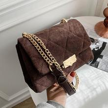 Luxury Chain Crossbody Bags for Women 2021 Fashion Winter PU Leather Handbags and Purses Female Travel Trending Cross Body Bag cheap SUNNY BEACH FLAP Shoulder Bags Shoulder Handbags CN(Origin) Hasp HARD Silt Pocket B-1366 Polyester Versatile Solid Single