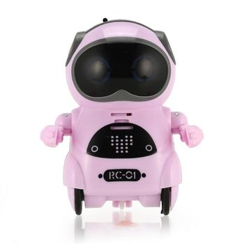 939A Mini Pocket Robot Talking Interactive Dialogue Voice Recognition Record Singing Dancing Telling Story Mini RC Robot Toys Bi 1