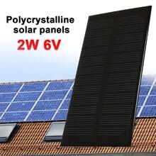 لوحة طاقة شمسية 2 واط 6 فولت دائم مولد للطاقة الشمسية شاحن الطاقة الشمسية جزء ضوء في الهواء الطلق تيار مستمر الناتج لوح مضاد للماء