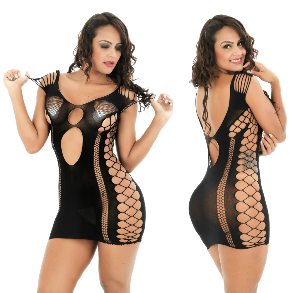 Ruswi Sexy Lingerie Women Erotic Apparel Sexy Costumes Black Underwear Slips Intimates Dress Hollow Nightwear Hot Sex Products