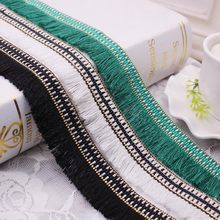 1 jardas/lote borla de seda franja guarnição laço fita guarnição do laço bordado tecido de renda costura vestuário cortina borlas para jóias diy