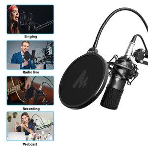 Image 5 - Maono microfone condensador profissional podcast studio microfone de áudio 3.5mm computador mic para youtube karaoke gravação jogos