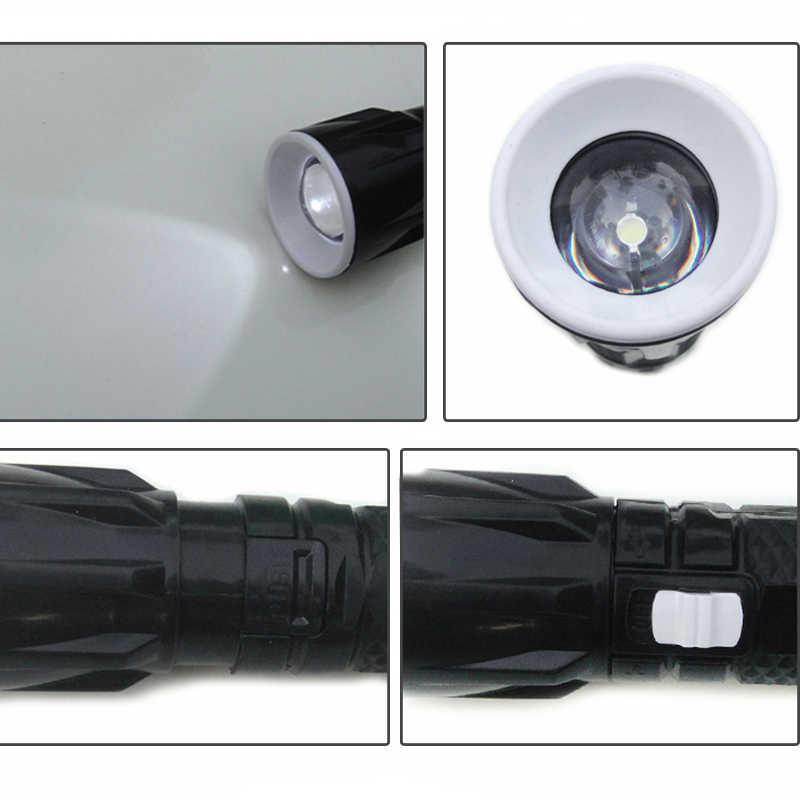 Портативный пластиковый мини-светильник-вспышка с ручкой, выдвижной светильник с зумом, маленький флэш-светильник светодиодный вращающийся светильник с затемнением для езды на открытом воздухе
