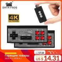 Consola de Videojuegos TV de mano inalámbrico USB Data Frog integrado en 600 Juego Clásico 8 bits Mini consola de Video compatible con salida AV/HDMI