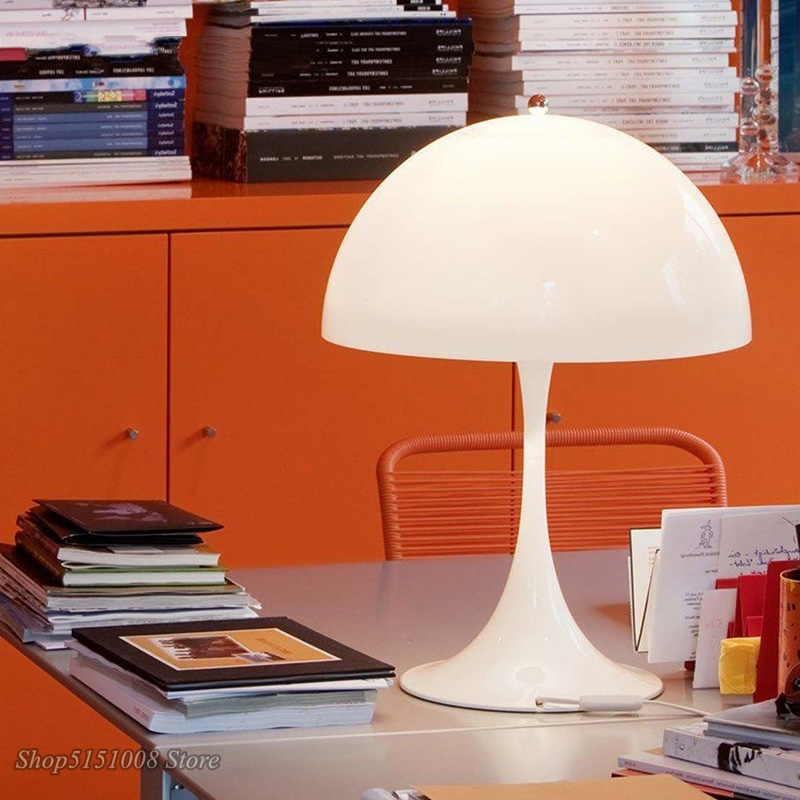 Modern Creative Mushroom Table Lamps White Table Lamp Luminaire Living Room Bedroom Bedside Panthella Table Light Decor Fixtures