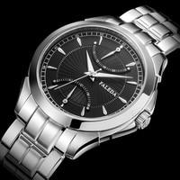 FALEDA Fashion Mens Business Watches Top Luxury Brand Quartz Watch Men Stainless Steel Waterproof Sport Watch Relogio Masculino