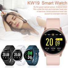 KW19 Смарт-часы для женщин и мужчин спортивный умный Браслет кровяное давление кислород монитор сердечного ритма во время сна сообщение напоминание для Andro