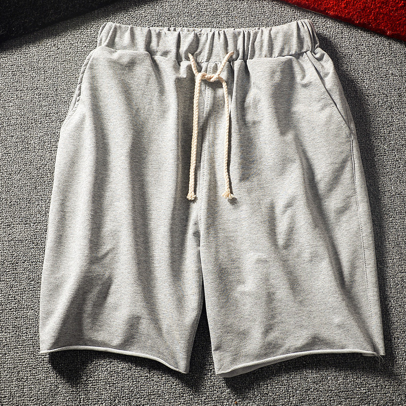 Breathable Cotton Shorts Men Sweatpants Grey Black Knee-length Elastic Casual Men's Summer Shorts 2020 Men's Clothing Sportswear