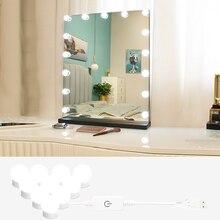 Vanity Gloeilamp Led Usb Tricolor Licht Private-Model Spiegel Muur Dimbare Kaptafel Invullen