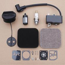 Ignition Coil Air Fuel Filter Gas Cap For Stihl FS75 FS80 FS85 Trimmer 4137 124 1500 w Spark Plug Carb Repair Kit