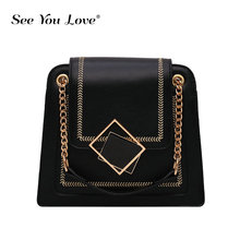 2019 New Women Pu leather Shoulder bag Fashion Chains luxury handbags women bags designer ladies Tote Crossbody Top-handle bags