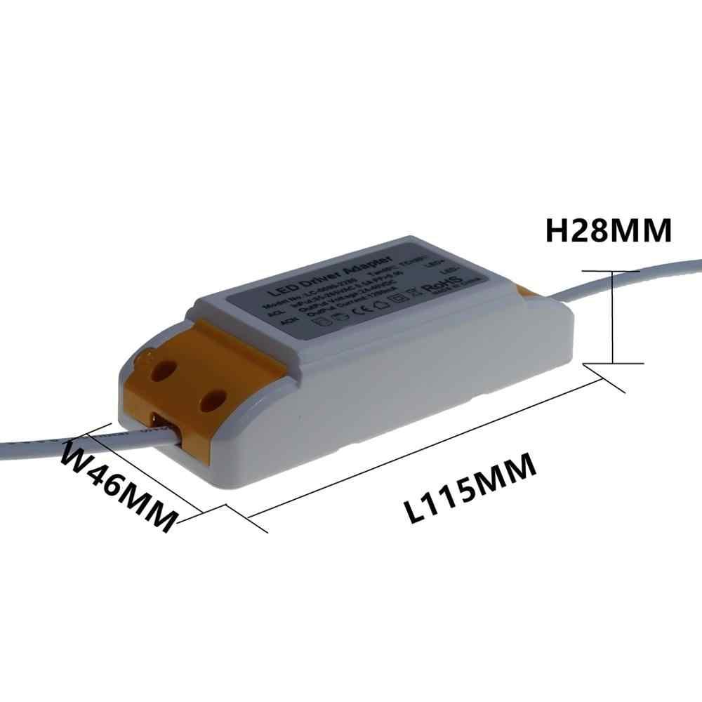 Envío gratuito, adaptador de controlador de Panel de luz LED de 30W 36W 42W 48W 50W, fuente de alimentación de AC85-265V, transformador de iluminación de 600mA 1050mA 1450mA