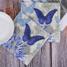 Napkins Paper Decor Vintage Tissue 20 Towel-Flower Stamp Table Birthday Beautiful Butterfly