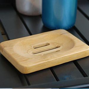 Домашний Держатель мыльницы из натурального бамбука, деревянный ящик для мыла, контейнер для мытья душа, подставка для хранения LX8335