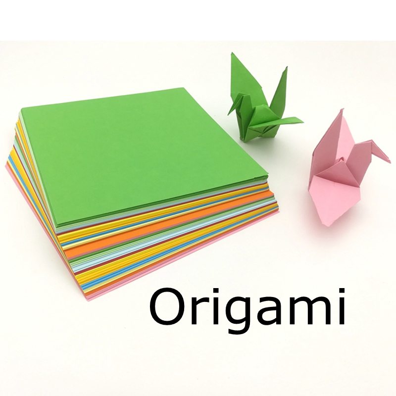 300 Pcs Multi-size Origami Handmade Paper Cardboard Kindergarten School Office Intelligence Development Thinking 10 Color Paper