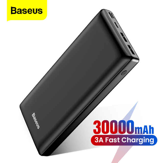 Baseus Power Bank 30000mAh Powerbank USB C Fast Poverbank For Xiaomi iPhone 12 Pro Portable External Battery Charger Pover bank