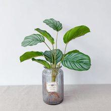 9 cabeças plantas falsas plantas artificiais folhas verde vívido ficus buquê decoração do quarto arranjo para a festa casa do hotel jardim ou
